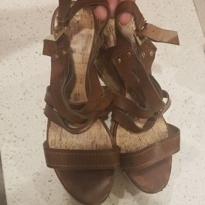 Brown Guess espadrille wedges!